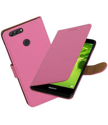 Hoesje voor Huawei nova 2 Plus Effen booktype Roze