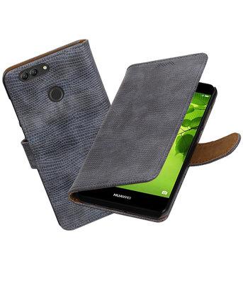Hoesje voor Huawei nova 2 Plus Mini Slang booktype Grijs