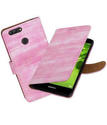 Hoesje voor Huawei nova 2 Plus Mini Slang booktype Roze