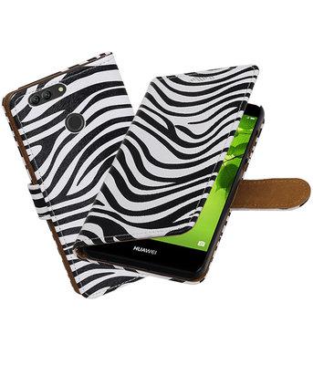 Hoesje voor Huawei nova 2 Plus Zebra booktype