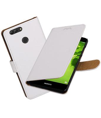 Hoesje voor Huawei nova 2 Plus Effen booktype Wit