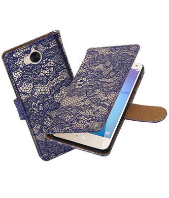 Huawei Y5 2017 / Y6 2017 Lace booktype hoesje Blauw