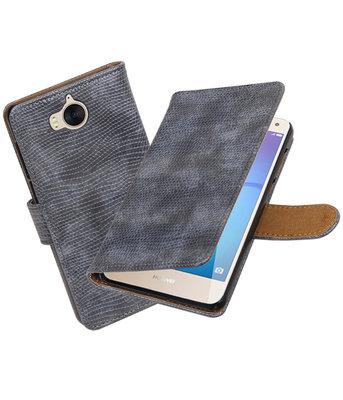 Huawei Y5 2017 / Y6 2017 Mini Slang booktype hoesje Grijs