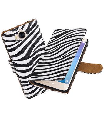 Huawei Y5 2017 / Y6 2017 Zebra booktype hoesje