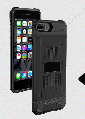 Zwart Bumper batterij hoesje Apple iPhone 6 / 6s en Apple iPhone 7 / 8