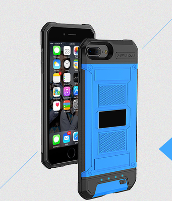 Blauw Bumper batterij hoesje Apple iPhone 6 / 6s en Apple iPhone 7 / 8
