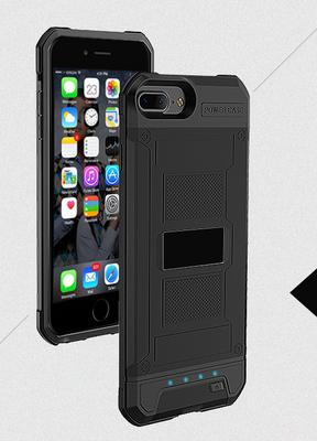 Zwart Bumper batterij hoesje Apple iPhone 6 / 6s Plus, 7 Plus, 8 Plus