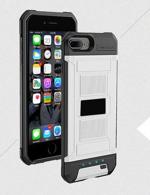 Wit Bumper batterij hoesje Apple iPhone 6 / 6s Plus, 7 Plus, 8 Plus