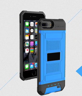 Blauw Bumper batterij hoesje Apple iPhone 6 / 6s Plus, 7 Plus, 8 Plus