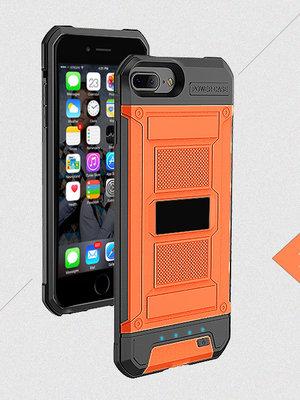 Oranje Bumper batterij hoesje Apple iPhone 6 / 6s Plus, 7 Plus, 8 Plus