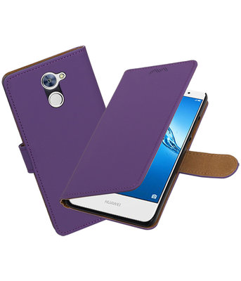 Hoesje voor Huawei Y7 / Y7 Prime Effen booktype Paars