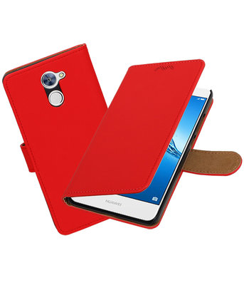 Hoesje voor Huawei Y7 / Y7 Prime Effen booktype Rood