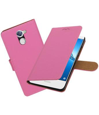 Hoesje voor Huawei Y7 / Y7 Prime Effen booktype Roze