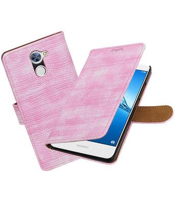 Hoesje voor Huawei Y7 / Y7 Prime Mini Slang booktype Roze