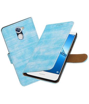 Hoesje voor Huawei Y7 / Y7 Prime Mini Slang booktype Turquoise