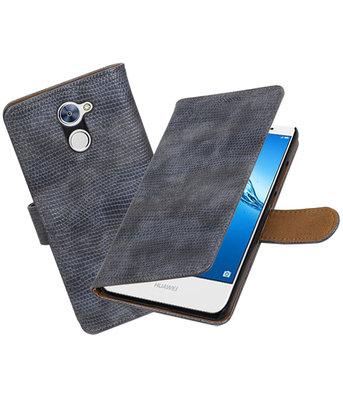 Hoesje voor Huawei Y7 / Y7 Prime Mini Slang booktype Grijs