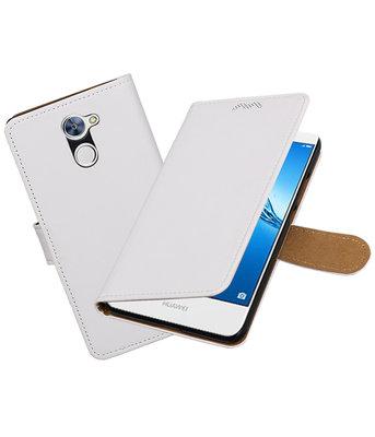 Hoesje voor Huawei Y7 / Y7 Prime Effen booktype Wit
