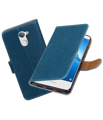 Hoesje voor Huawei Y7 / Y7 Prime Pull-Up booktype Blauw