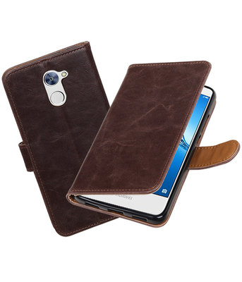 Huawei Y7 / Y7 Prime Pull-Up booktype hoesje Mocca