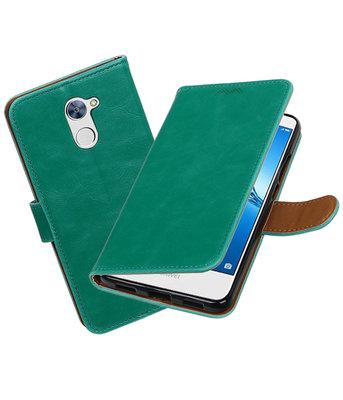 Hoesje voor Huawei Y7 / Y7 Prime Pull-Up booktype Groen