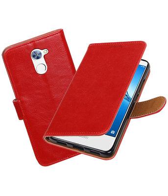 Hoesje voor Huawei Y7 / Y7 Prime Pull-Up booktype Rood