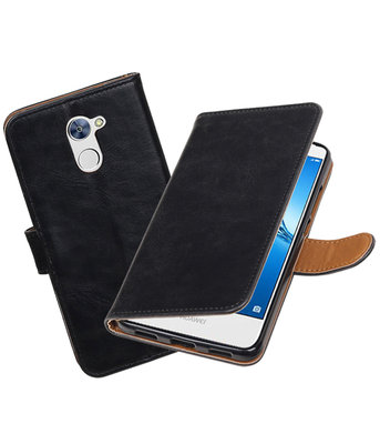 Hoesje voor Huawei Y7 / Y7 Prime Pull-Up booktype Zwart