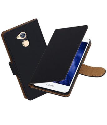 Hoesje voor Huawei Honor 6A Effen booktype Zwart