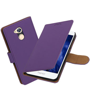 Hoesje voor Huawei Honor 6A Effen booktype Paars