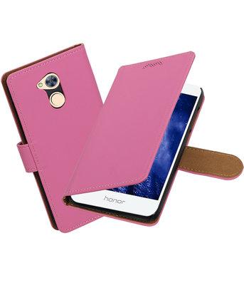 Hoesje voor Huawei Honor 6A Effen booktype Roze