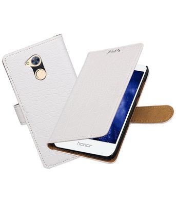 Hoesje voor Huawei Honor 6A Krokodil booktype Wit