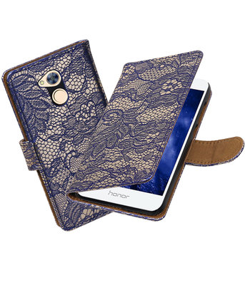 Huawei Honor 6A Lace booktype hoesje Blauw