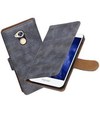 Hoesje voor Huawei Honor 6A Mini Slang booktype Grijs