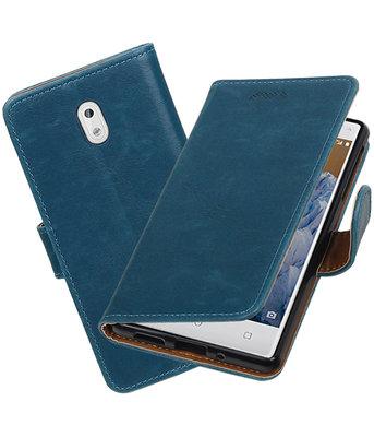 Hoesje voor Nokia 3 Pull-Up booktype Blauw