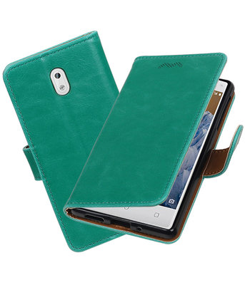 Hoesje voor Nokia 3 Pull-Up booktype Groen