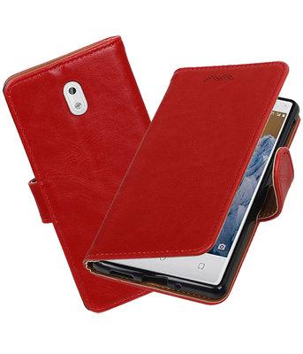 Hoesje voor Nokia 3 Pull-Up booktype Rood