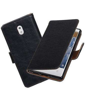 Hoesje voor Nokia 3 Pull-Up booktype Zwart