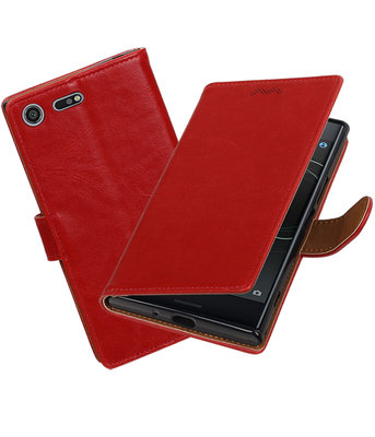 Sony Xperia XZ Premium Pull-Up booktype hoesje Rood