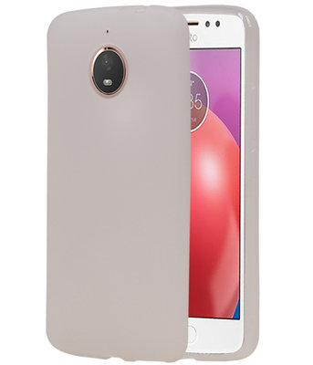 Hoesje voor Motorola Moto E4 Plus TPU back case Wit