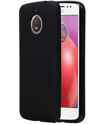 Hoesje voor Motorola Moto E4 Plus TPU back case Zwart