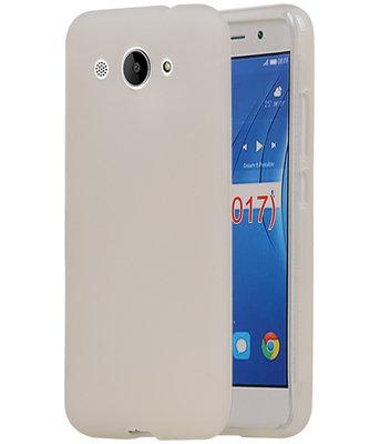 Huawei Y3 2017 TPU back case hoesje Wit