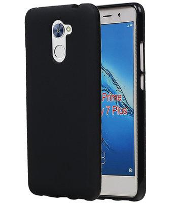 Hoesje voor Huawei Y7 Prime TPU back case Zwart
