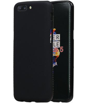 OnePlus 5 TPU back case Zwart