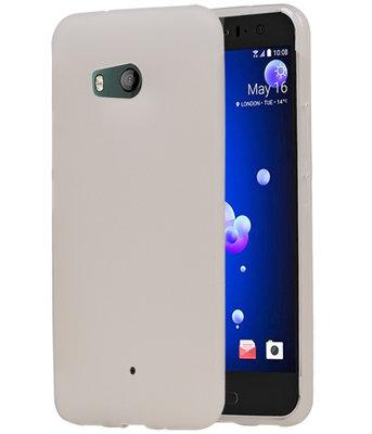 Hoesje voor HTC U11 TPU back case Wit