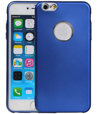Hoesje voor Apple iPhone 6 Plus / 6s Plus Design TPU back case Blauw