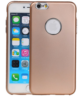 Hoesje voor Apple iPhone 6 Plus / 6s Plus Design TPU back case Goud