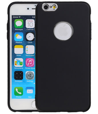 Hoesje voor Apple iPhone 6 Plus / 6s Plus Design TPU back case Zwart