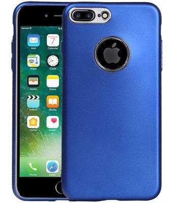 Hoesje voor Apple iPhone 7 Plus / 8 Plus Design TPU back case Blauw