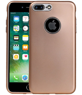 Hoesje voor Apple iPhone 7 Plus / 8 Plus Design TPU back case Goud