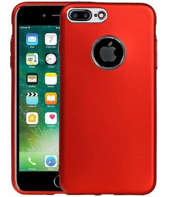 Hoesje voor Apple iPhone 7 Plus / 8 Plus Design TPU back case Rood