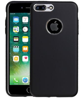 Hoesje voor Apple iPhone 7 Plus / 8 Plus Design TPU back case Zwart